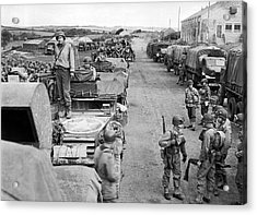 D-day Preparation Acrylic Print by Underwood Archives