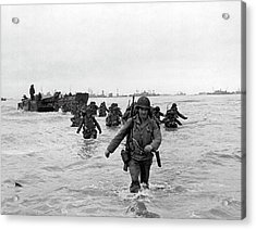 D-day Reinforcements Acrylic Print by Underwood Archives