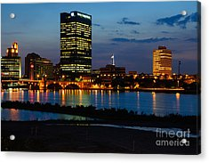 D12u152 Toledo Ohio Skyline Photo Acrylic Print