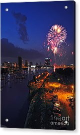 D12u470 Red White And Kaboom In Toledo Ohio Photo Acrylic Print