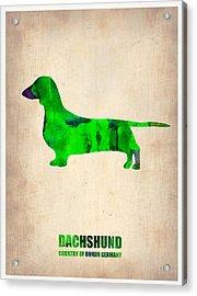 Dachshund Poster 1 Acrylic Print by Naxart Studio