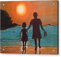 Dad And Daughter Acrylic Print