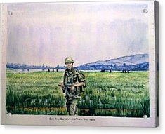 Acrylic Print featuring the painting Dad In Viet Nam Sold by Richard Benson