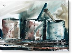 Dad's Tools Acrylic Print by Micheal Jones