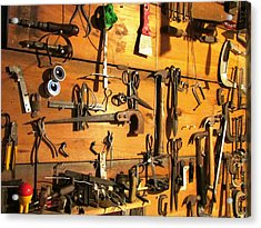 Dads Tools Acrylic Print by Will Boutin Photos