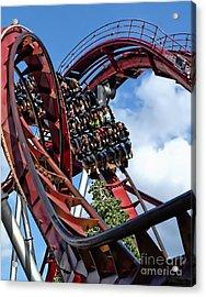 Daemonen - The Demon Rollercoaster - Tivoli Gardens - Copenhagen Acrylic Print