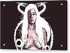 Daenerys Acrylic Print by Jeremy Scott