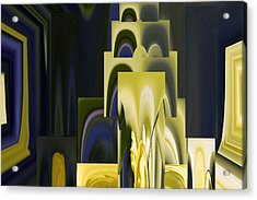 Daffodil Abstract Acrylic Print by Pat Exum