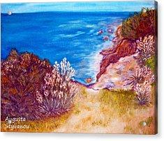 Daffodils At The Beach Acrylic Print by Augusta Stylianou