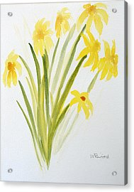 Daffodils For Mothers Day Acrylic Print by Wade Binford
