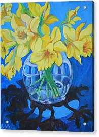 Daffodils Acrylic Print by Rufus Norman