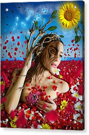 Dafne   Hit In The Physical But Hurt The Soul Acrylic Print by Alessandro Della Pietra