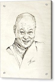 Dahlai Lama Acrylic Print