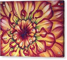 Dahlia Rainbow Acrylic Print