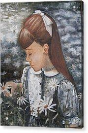 Daisey Girl Acrylic Print