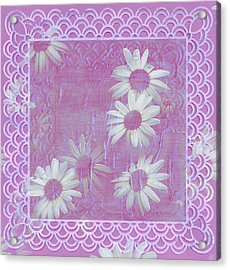 Acrylic Print featuring the photograph Daisies And Paper Lace by Sandra Foster