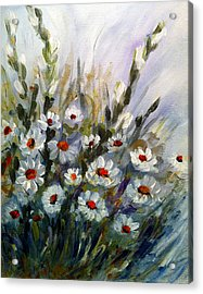 Acrylic Print featuring the painting Daisies by Dorothy Maier