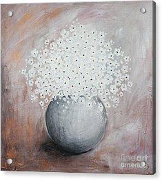 Daisies Acrylic Print by Home Art