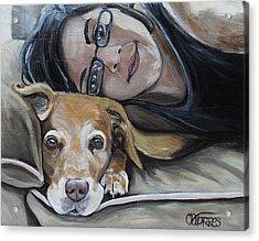 Daisy And Melissa Acrylic Print