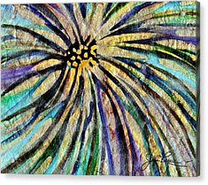 Acrylic Print featuring the painting Daisy Blue by Joan Reese