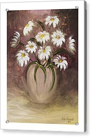 Daisy Delight Acrylic Print by Nancy Edwards