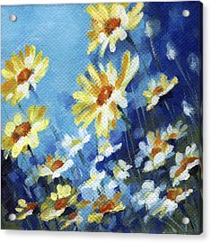 Acrylic Print featuring the painting Daisy Field by Natasha Denger