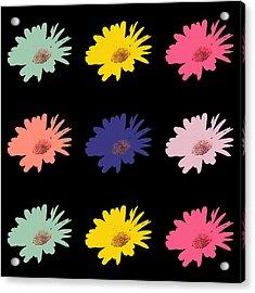 Daisy Flower In Pop Art Acrylic Print