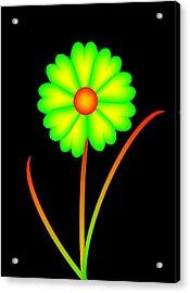 Acrylic Print featuring the digital art Daisy by Gayle Price Thomas