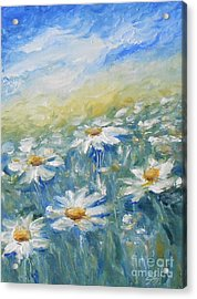 Daisies Acrylic Print by Jane  See