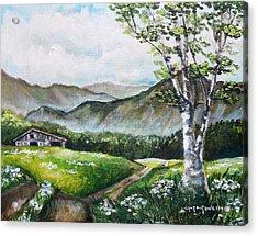 Daisy Lane Acrylic Print by Shana Rowe Jackson