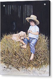 Acrylic Print featuring the painting Daisy by Nancy Cupp