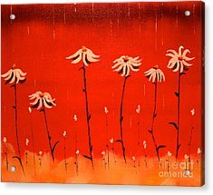 Daisy Rain Acrylic Print by Denise Tomasura