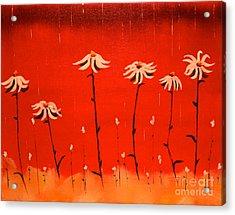 Acrylic Print featuring the painting Daisy Rain by Denise Tomasura
