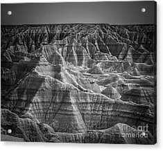 Dakota Badlands Acrylic Print by Perry Webster