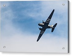 Acrylic Print featuring the photograph Dakota D-day Markings by Scott Lyons
