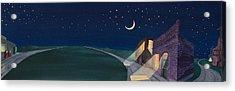 Acrylic Print featuring the painting Dakota Moon II by Scott Kirby