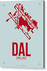 Dal Dallas Airport Poster 3 Acrylic Print by Naxart Studio