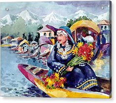 Dal Lake Jewel In The Crown Of Kashmir Acrylic Print by Donna Jolly Jacob