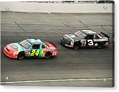 Jeff Gordon And Dale Earnhardt Acrylic Print by Retro Images Archive