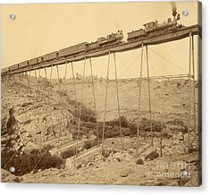Dale Creek Bridge Union Pacific Acrylic Print by Getty Research Institute