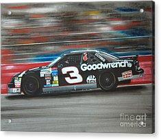 Dale Earnhardt Goodwrench Chevrolet Acrylic Print by Paul Kuras