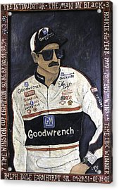 Acrylic Print featuring the painting Dale Earnhardt Sr. - The Intimidator by Eric Cunningham