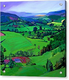 Dales Patchwork Acrylic Print by Neil McBride