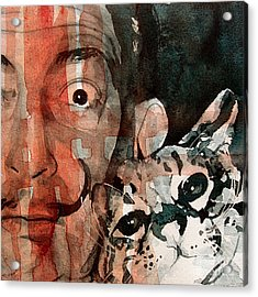 Dali And His Cat Acrylic Print by Paul Lovering