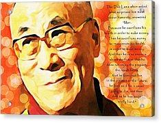 Dali Lama And Man Acrylic Print
