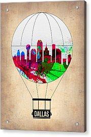 Dallas Air Balloon Acrylic Print by Naxart Studio