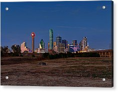 Dallas At Dusk Acrylic Print