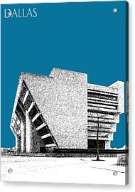 Dallas Skyline City Hall - Steel Acrylic Print by DB Artist