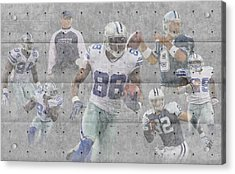 Dallas Cowboys Team Acrylic Print