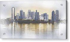Dallas Acrylic Print by David and Carol Kelly